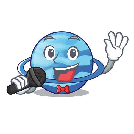 Singing planet uranus in the cartoon form