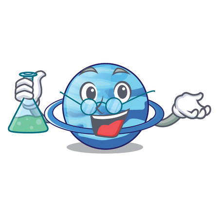 Professor uranius plenet is isolated on mascot vector illustration