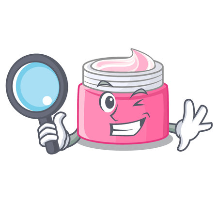 Detective face cream in the cartoon form