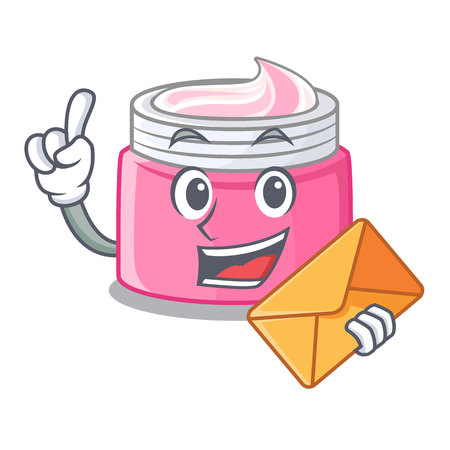With envelope face cream in the cartoon form vector illustration 向量圖像