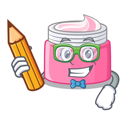 Student face cream in the cartoon form vector illustration