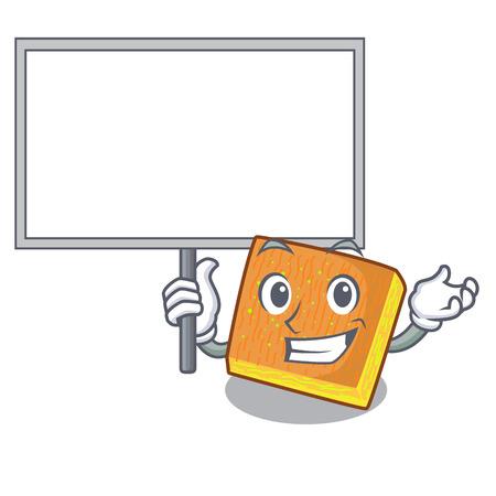 Bring board kunafa ready served on cartoon plate vector illustration Imagens - 126159827
