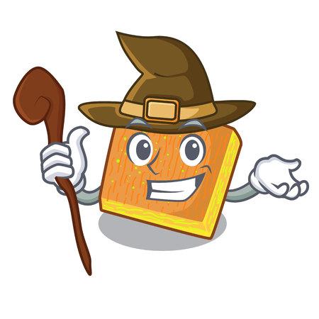 Witch kunafa bake on the character board vector illustration Illustration