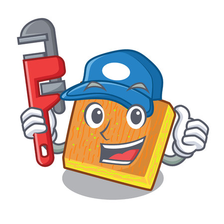 Plumber kunafa was isolated from the mascot vector illustration