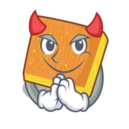 Devil kunafa bake on the character board vector illustration