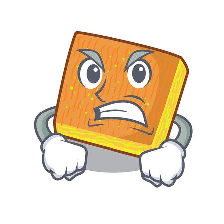 Angry kunafa bake on the character board vector illustration