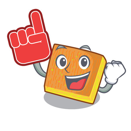 Foam finger kunafa was isolated from the mascot vector illustration Ilustrace
