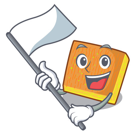 With flag kunafa was isolated from the mascot vector illustration