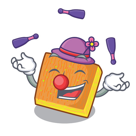 Juggling kunafa was isolated from the mascot vector illustration