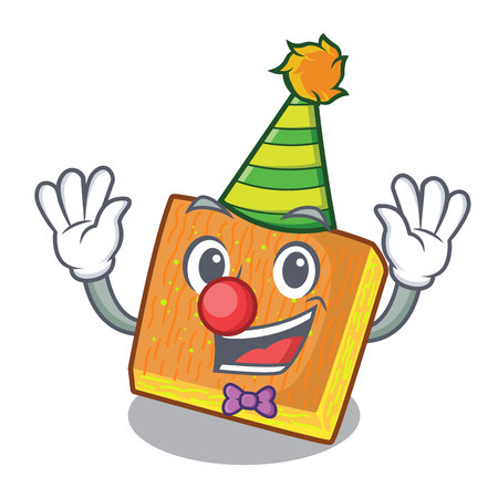 Clown kunafa was isolated from the mascot vector illustration