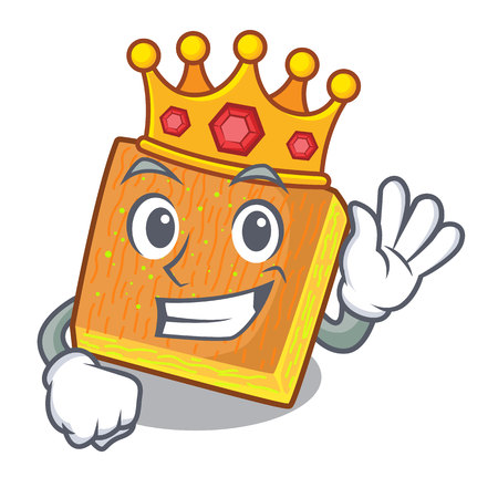 King kunafa was isolated from the mascot vector illustration Ilustrace