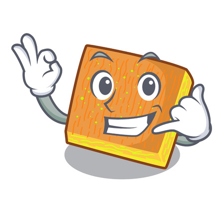 Call me kunafa was isolated from the mascot vector illustration