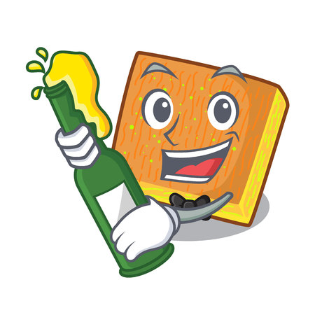 With beer kunafa was isolated from the mascot vector illustration Ilustrace