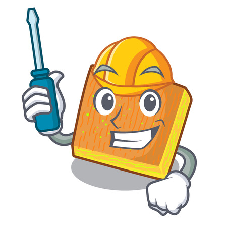 Automotive kunafa was isolated from the mascot vector illustration
