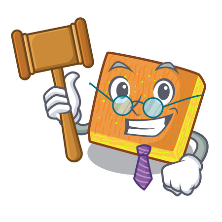 Judge kunafa was isolated from the mascot vector illustration