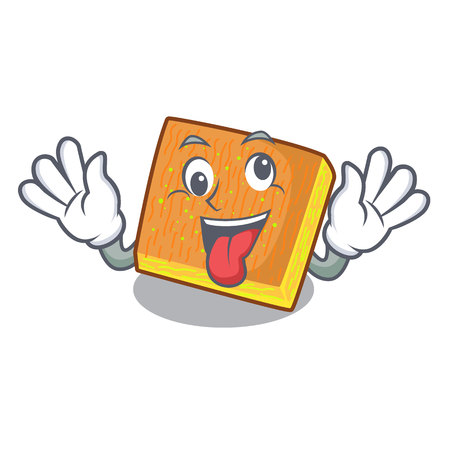 Crazy kunafa was isolated from the mascot vector illustration