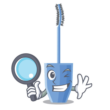 Detective mascara brush in the cartoon shape 向量圖像