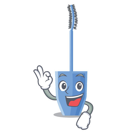 Okay mascara brush in the cartoon shape vector illustration 向量圖像