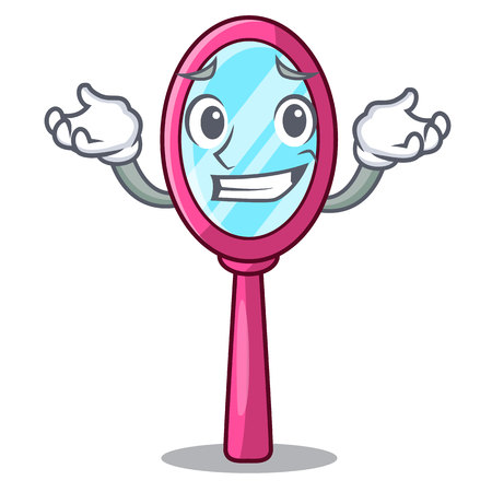 Grinning mirror isolated with on the mascot vector illustration Çizim