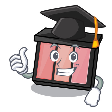Graduation eye shadow isolated with the mascot vector illustration