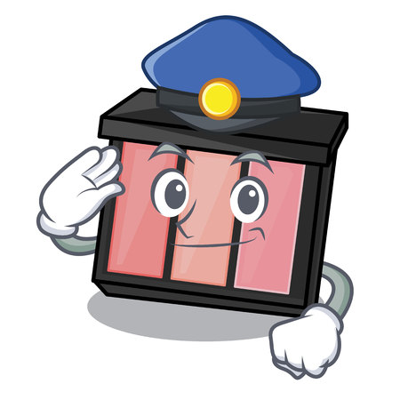 Police eye shedow in the cartoon shape vector illustratration