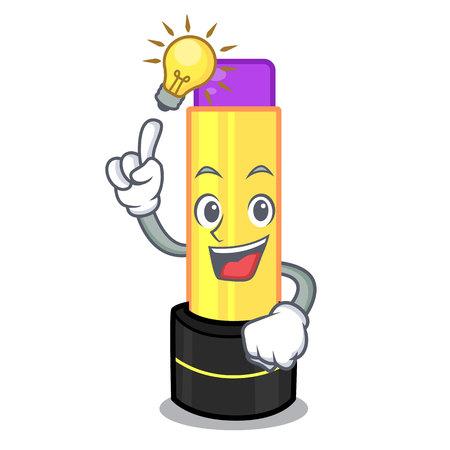 Have an idea lip balm in the cartoon shape vector illustration