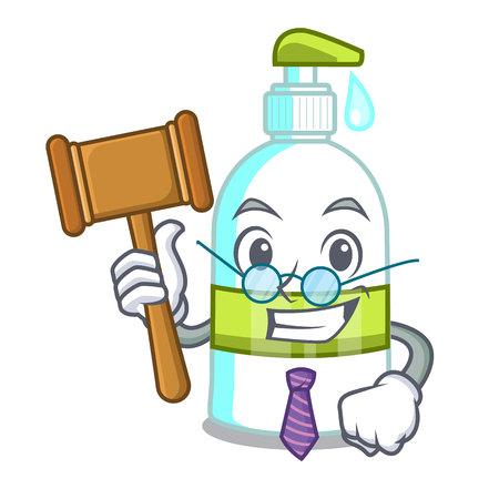 Judge liquid soap in the cartoon shape vector illustartion