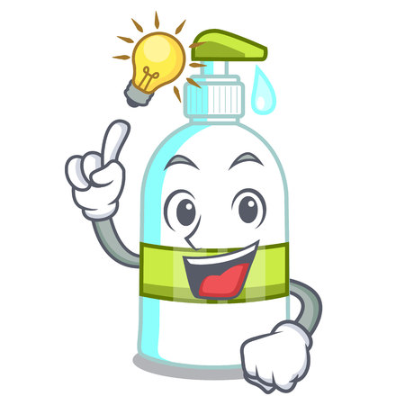 Have an idea liquid soap in the cartoon shape vector illustartion