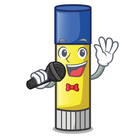 Singing glue stick isolated on the mascot vector illustration 스톡 콘텐츠 - 126095815