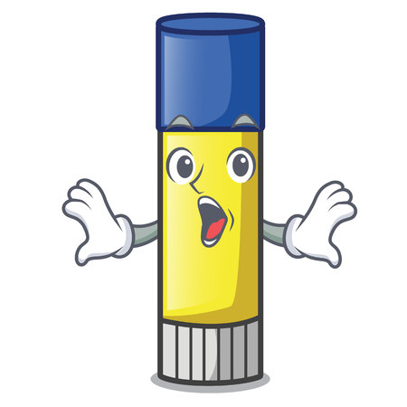 Surprised glue stick isolated on the mascot vector illustration