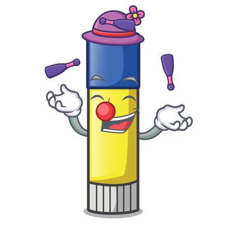 Juggling cute cartoon on the glue stick vector illustration Banco de Imagens - 115423919