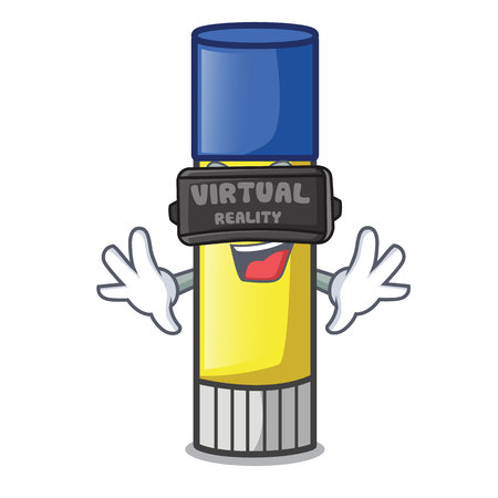 Virtual reality glue stick isolated on the mascot vector illustration