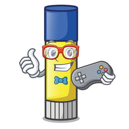 Gamer glue stick isolated on the mascot vector illustration Çizim