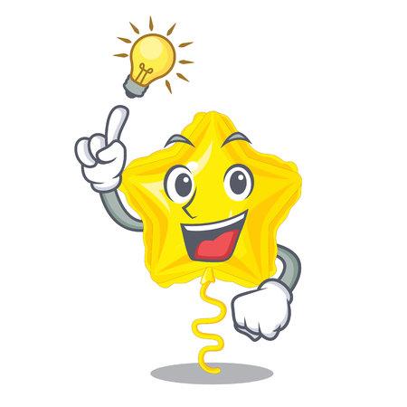 Have an idea star balloon on wooden cartoon table vector illustration