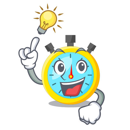 Have an idea cartoon stopwatch on for the race vector illustration