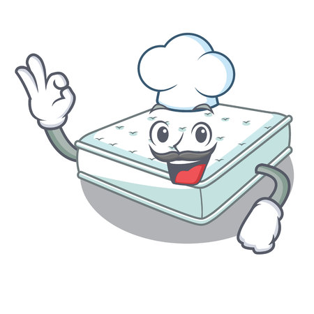 Chef mattress in on the characters bedroom vector illustration Vettoriali