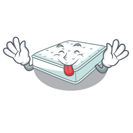 Tongue out mattress in cartoon on the shape vector illustration Stock fotó - 125939331
