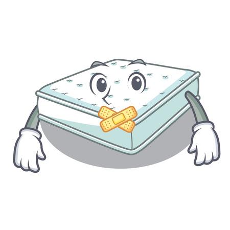 Silent mattress in cartoon on the shape