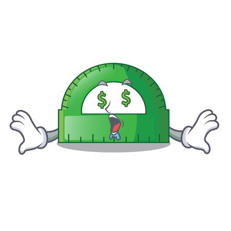 Money eye protractor isolated in the a cartoons vec tor illustration