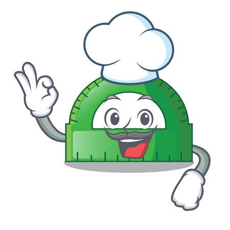 Chef protractor in a the cartoon bag vector illustartion Illustration