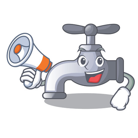 With megaphone water tap in shape of mascot