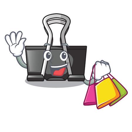 Shopping binder clip isolated on the cartoon vector illustration Illustration
