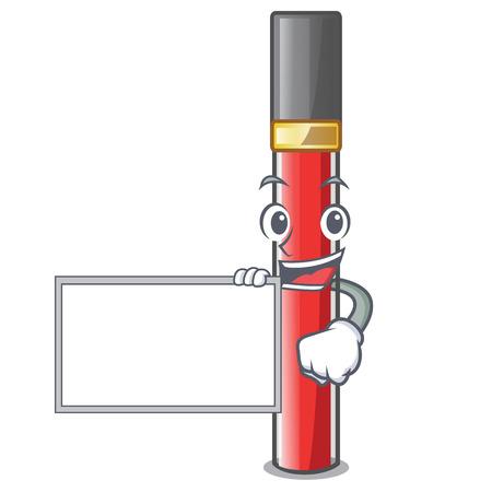 Mit Board-Lipgloss in Cartoon-Form Vektorgrafik
