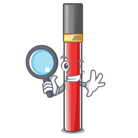 Detective lip gloss isolated in the mascot Illustration