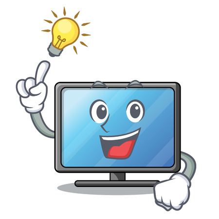 Have an idea lcd tv isolated with the character vector illustration