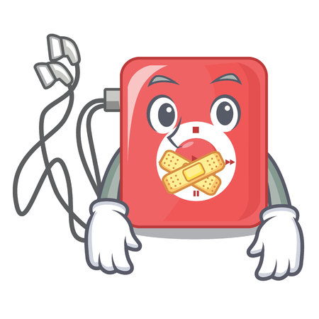 Silent mp3 player isolated on with mascot vector illustration Illustration