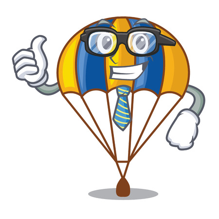 Businessman parachute isolated with in the cartoons vector illustration