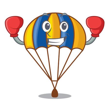 Paracaídas de boxeo en la ilustración de vector de shpe of charcter