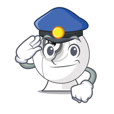 Police webcam in the shape of mascot vector illustration