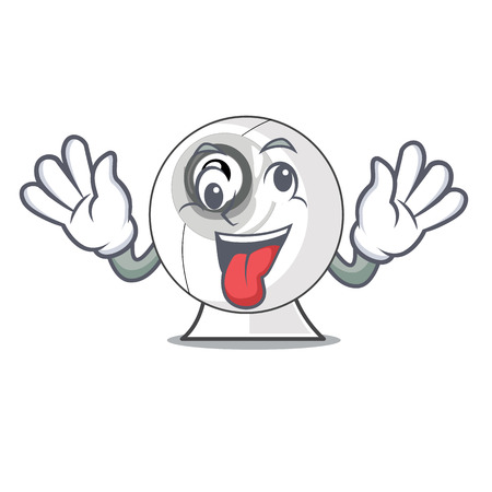 Crazy cartoon webcam in funny that shape vector illustration